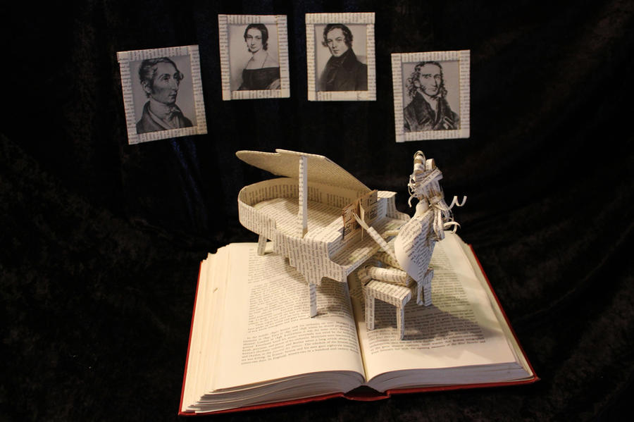 The Great Composer Book Sculpture by wetcanvas