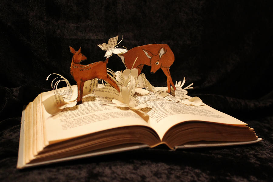 Bambi  Book Sculpture by wetcanvas