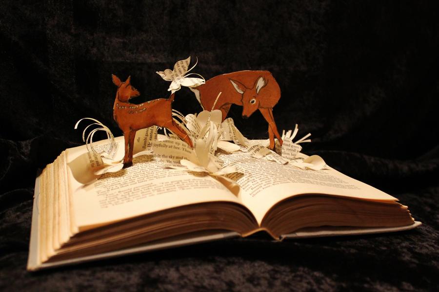 Bambi  Book Sculpture by wetcanvas