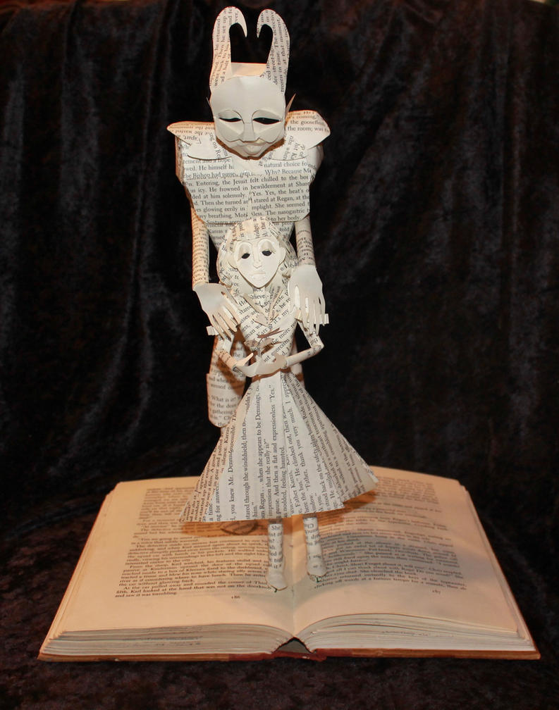 The Exorcist Book Sculpture by wetcanvas