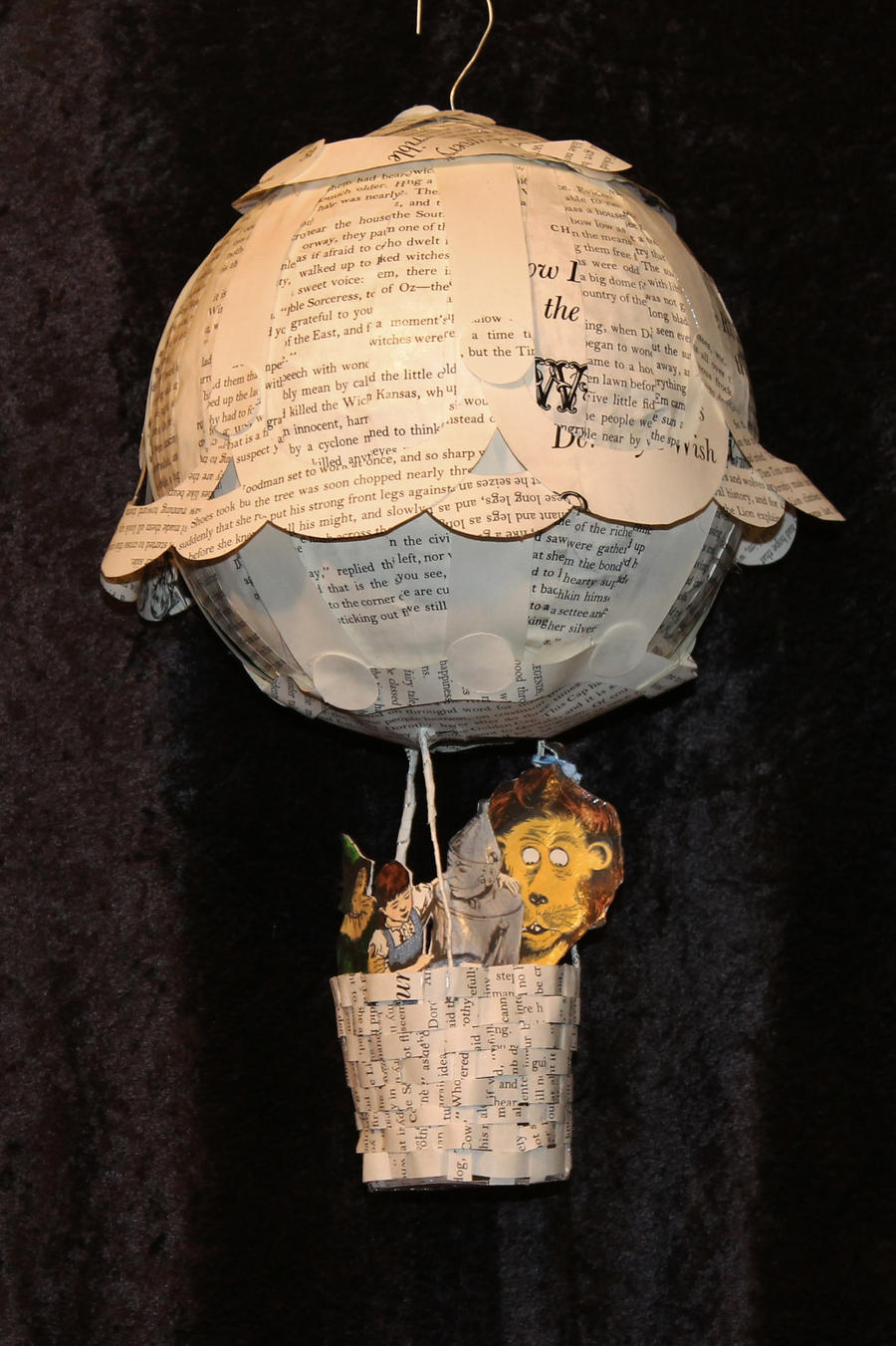 Oz Hot Air Balloon Book Sculpture by wetcanvas