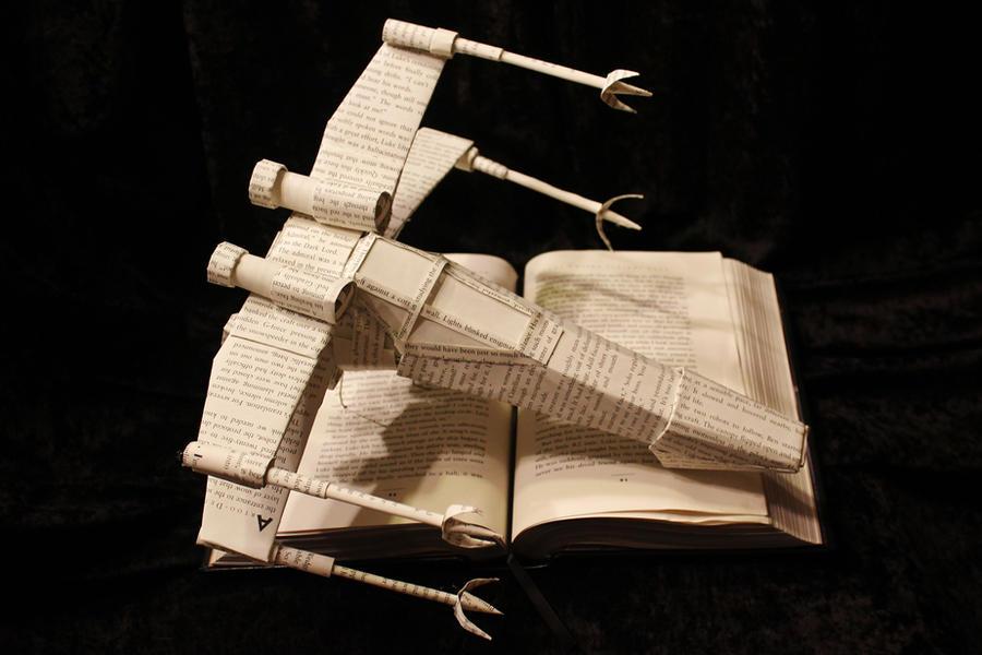 Star Wars X-Wing Book Sculpture