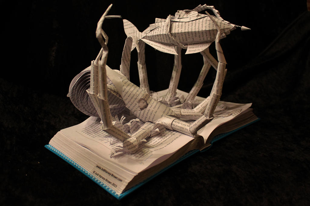 20000 Leagues Under the Sea Book Sculpture by wetcanvas