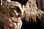 Owl Book Sculpture Close Up