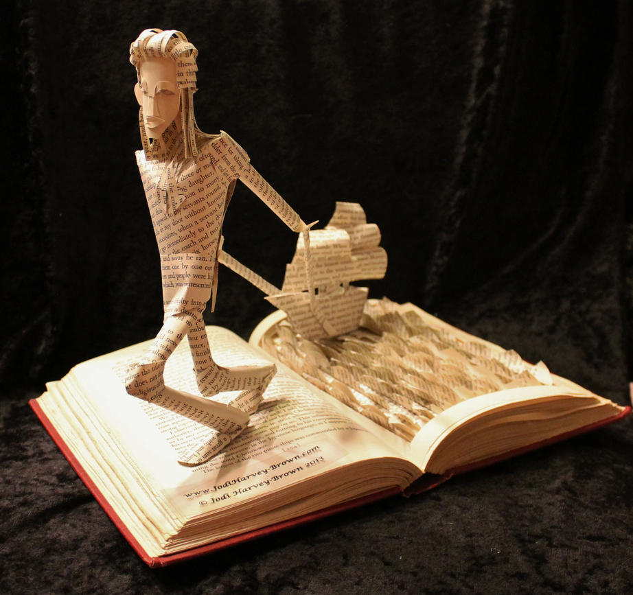 Gulliver's Travels Book Sculpture by wetcanvas