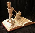 Gulliver's Travels Book Sculpture