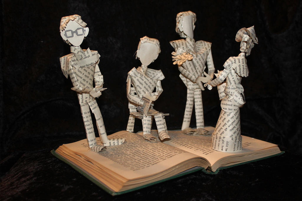 Mrs. Dalloway Book Sculpture by wetcanvas