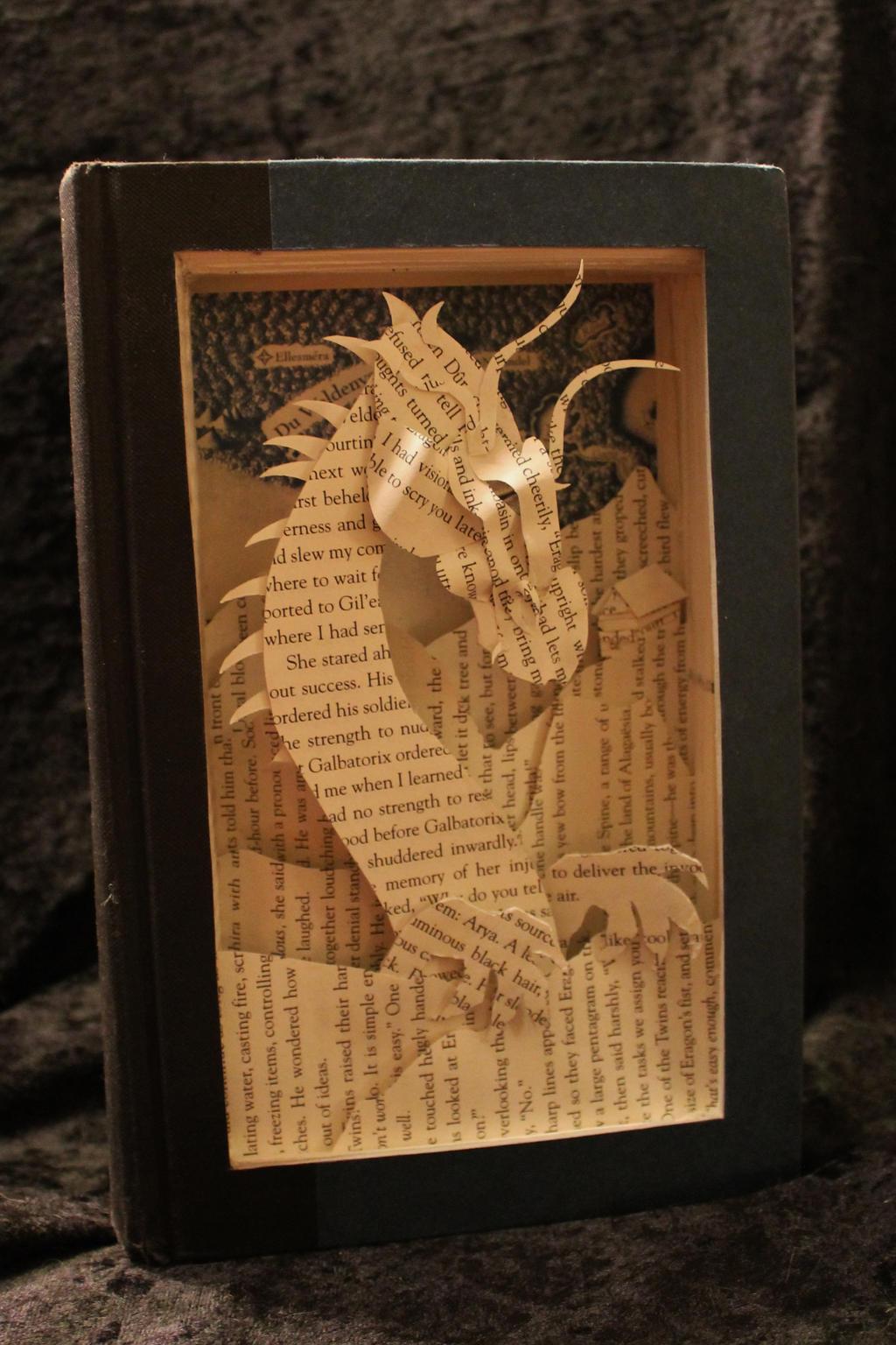 Eragon Book Sculpture by wetcanvas