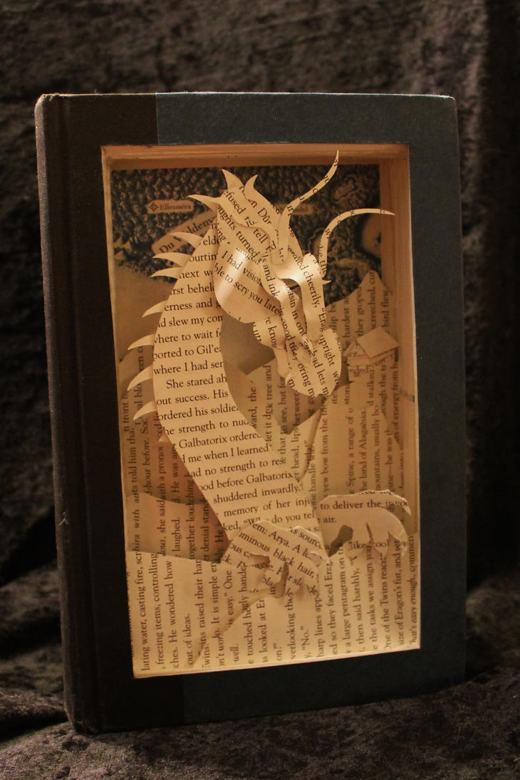 Eragon Book Sculpture by wetcanvas