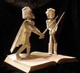 Skywalker vs Vader Book Sculpture