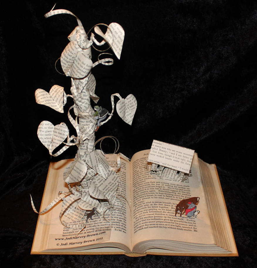 Jack and the Beanstalk Book Sculpture by wetcanvas