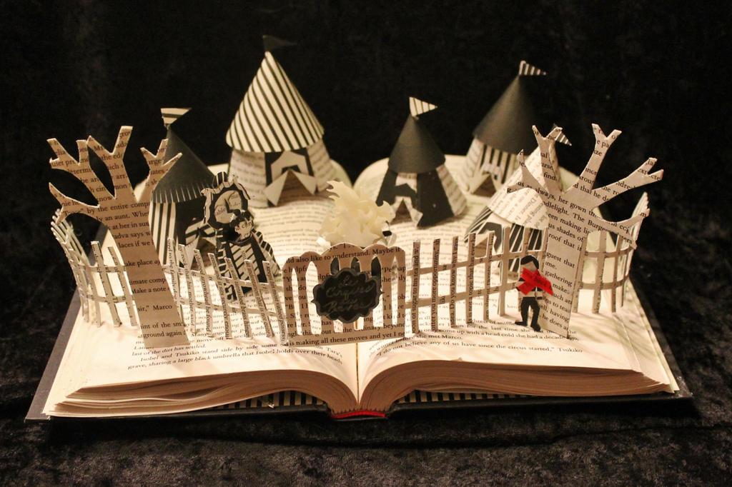The Night Circus Book Sculpture