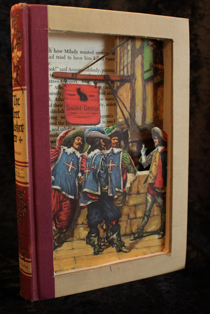 The Three Musketeers Book Sculpture by wetcanvas