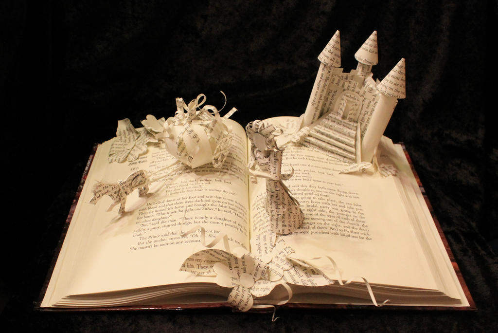 Cinderella book sculpture by wetcanvas on deviantart