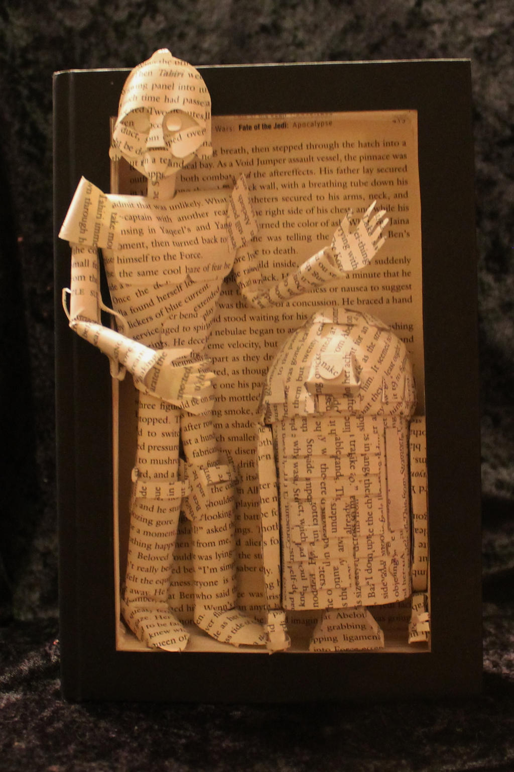 Droid Book Sculpture by wetcanvas