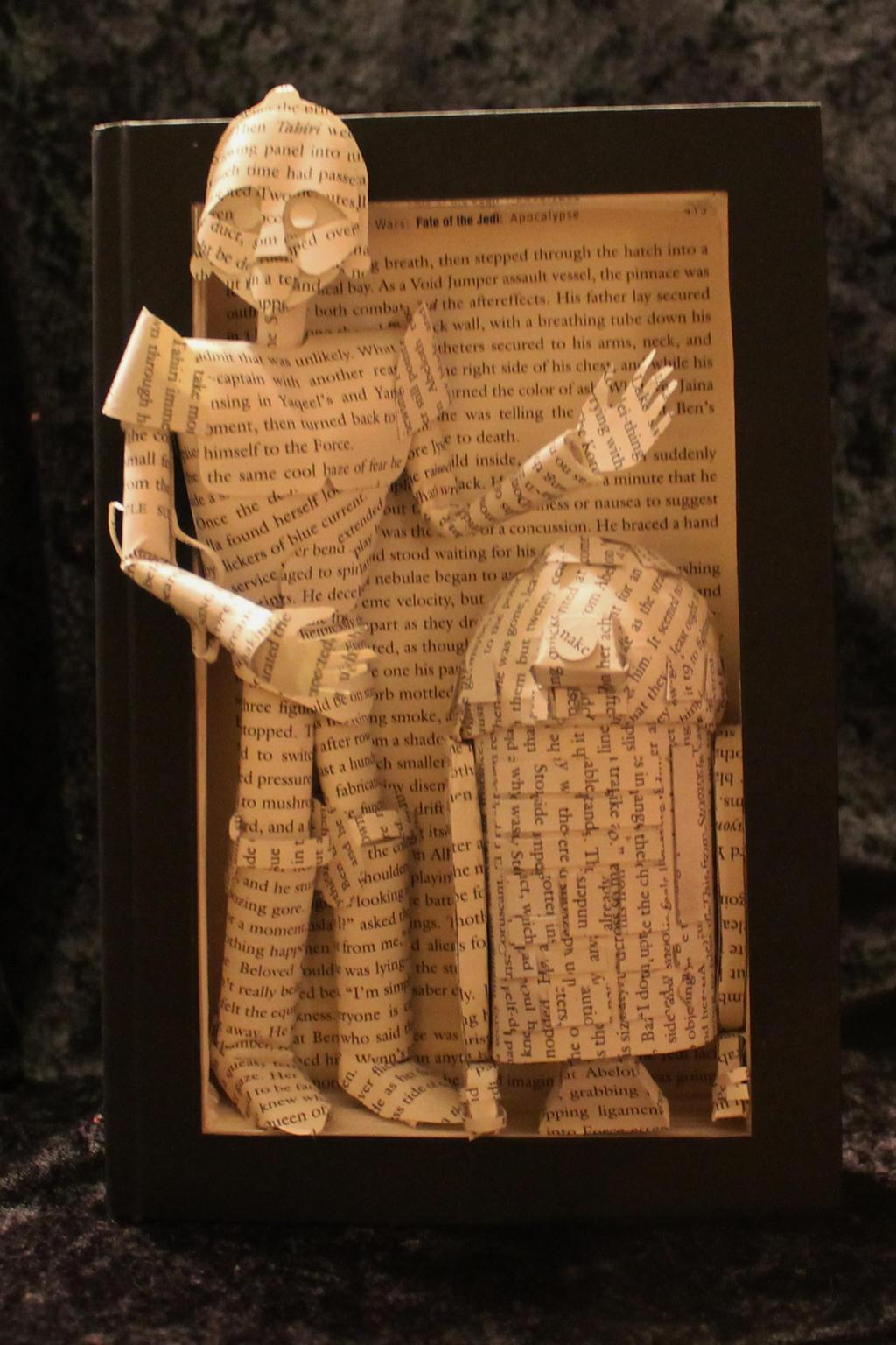 Droid Book Sculpture by wetcanvas