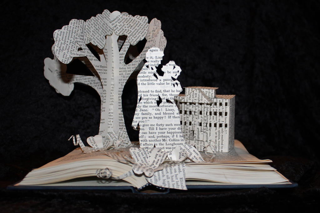 Pride and Prejudice Book Sculpture by wetcanvas
