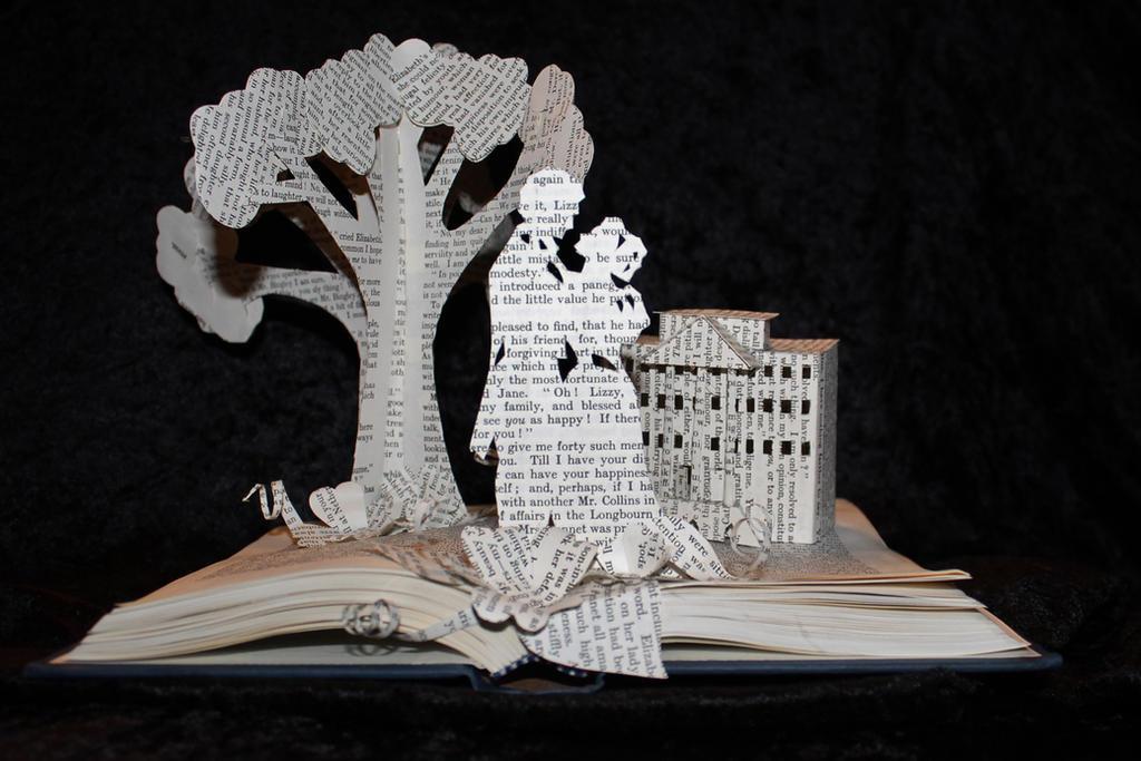 Pride and Prejudice Book Sculpture by wetcanvasPride And Prejudice Book
