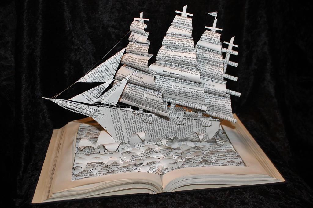 Yacht Book Sculpture by wetcanvas