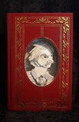 Mark Twain Portrait Book Sculpture by wetcanvas