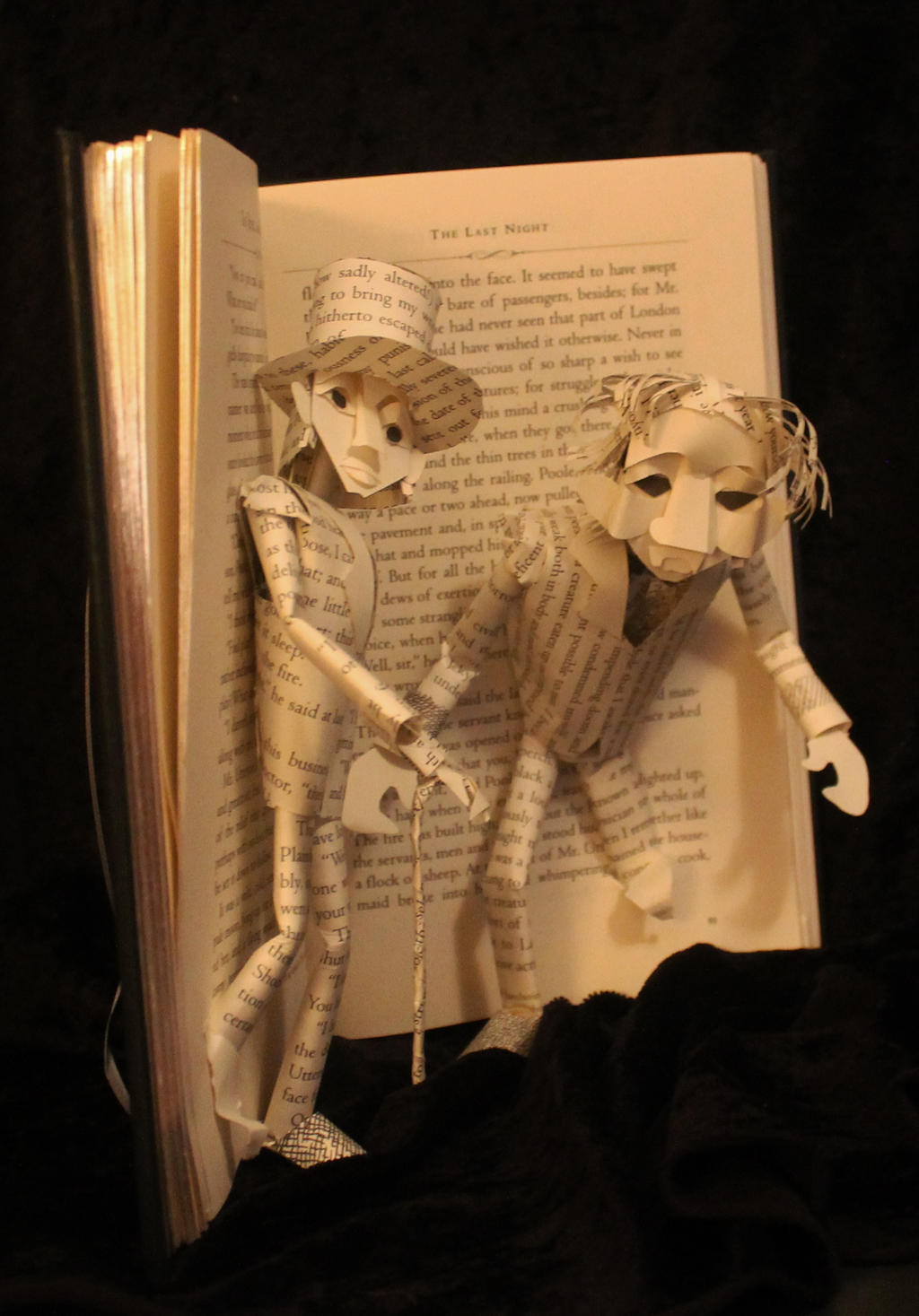 Dr Jekyll and Mr Hyde Book Sculpture by wetcanvas