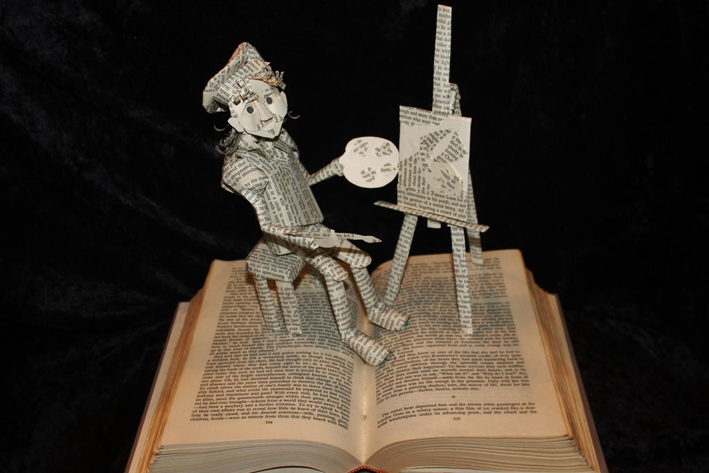 Rembrandt Book Sculpture by wetcanvas