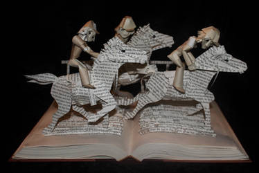 Horse Race Book Sculpture by wetcanvas