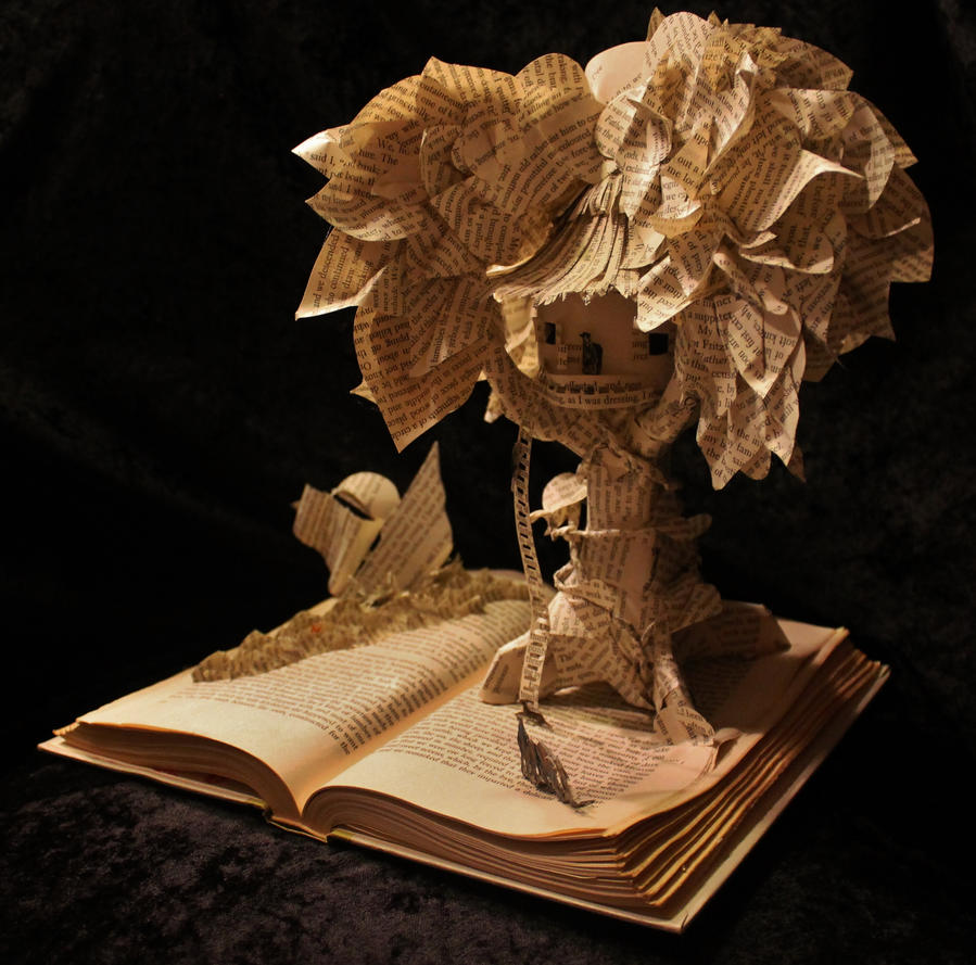 The Swiss Family Robinson Book Sculpture by wetcanvas