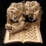 The Wind in the Willows Book Sculpture