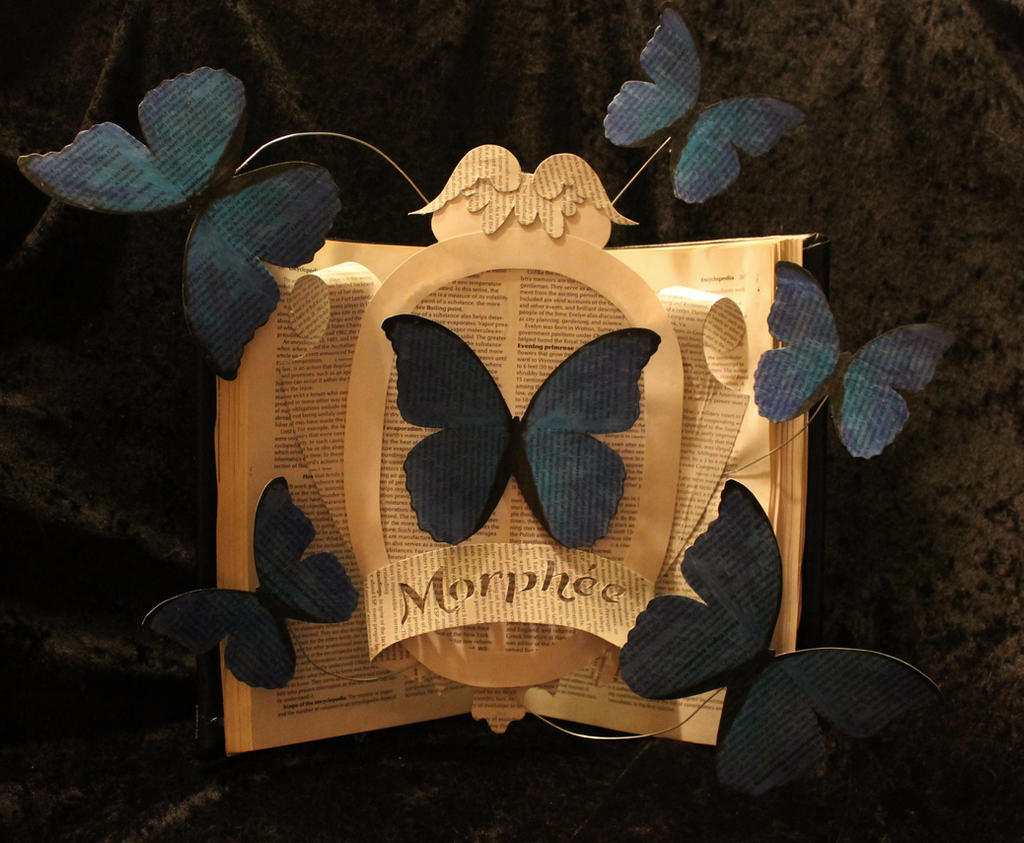 Morphee Jewelry Logo Book Sculpture by wetcanvas