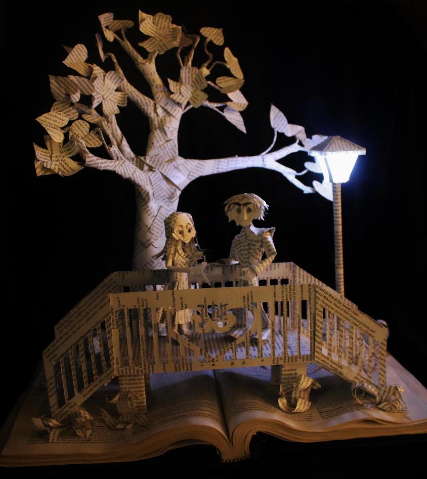 Parisian Bridge Book Sculpture by wetcanvas