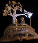 Parisian Bridge Book Sculpture