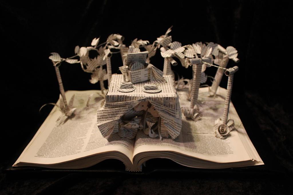 Vineyard Book Sculpture