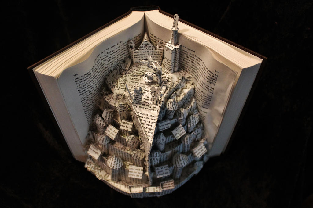 Minas Tirith Book Sculpture 1 by wetcanvas