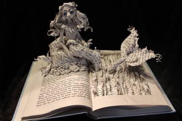 The Little Mermaid Book Sculpture by wetcanvas