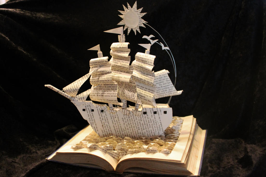 Sailing Home Book Sculpture by wetcanvas