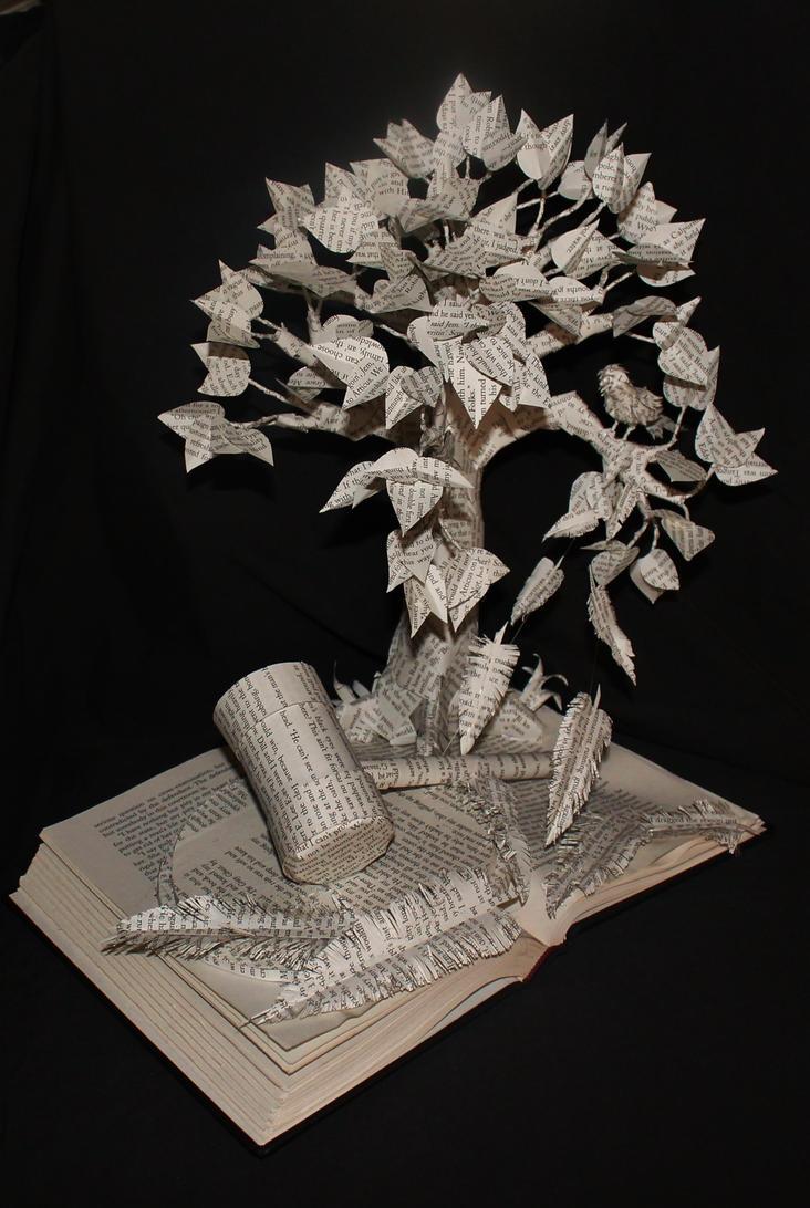 To Kill A Mockingbird Book Sculpture by wetcanvas