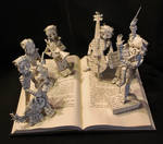 Chroma The Great Book Sculpture