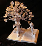 To Kill A Mockingbird Book Sculpture with Scout