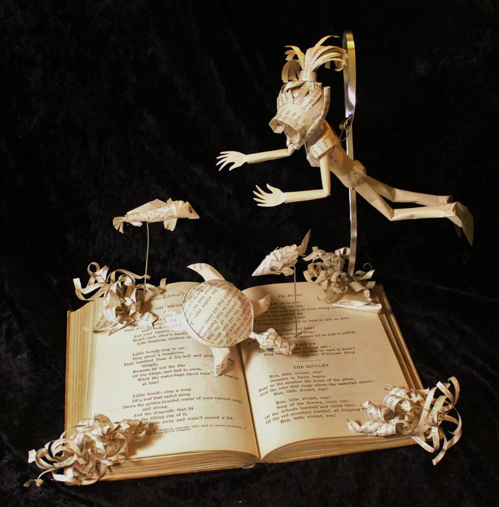 Scuba Diver Book Sculpture by wetcanvas