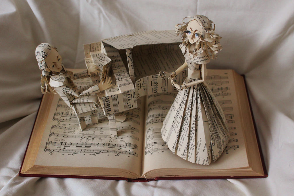 Opera Singer Book Sculpture by wetcanvas