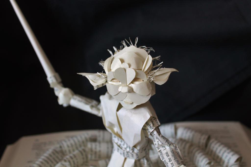 Yoda Book Sculpture Detail by wetcanvas
