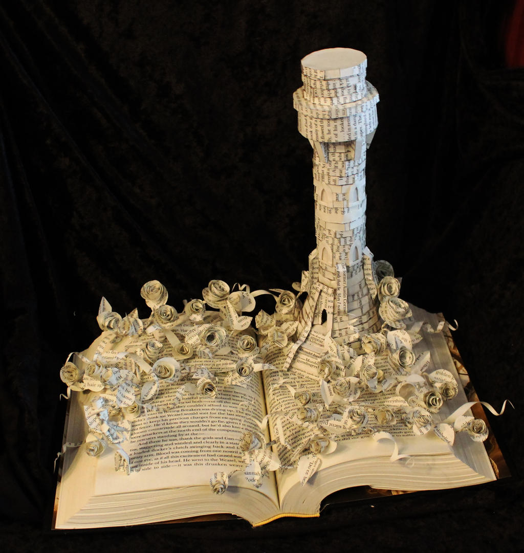 The Dark Tower Book Sculpture by wetcanvas
