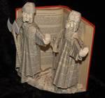 The Guardians of Argonath Book Sculpture