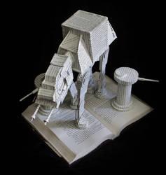 AT-AT Walker Book Sculpture by wetcanvas