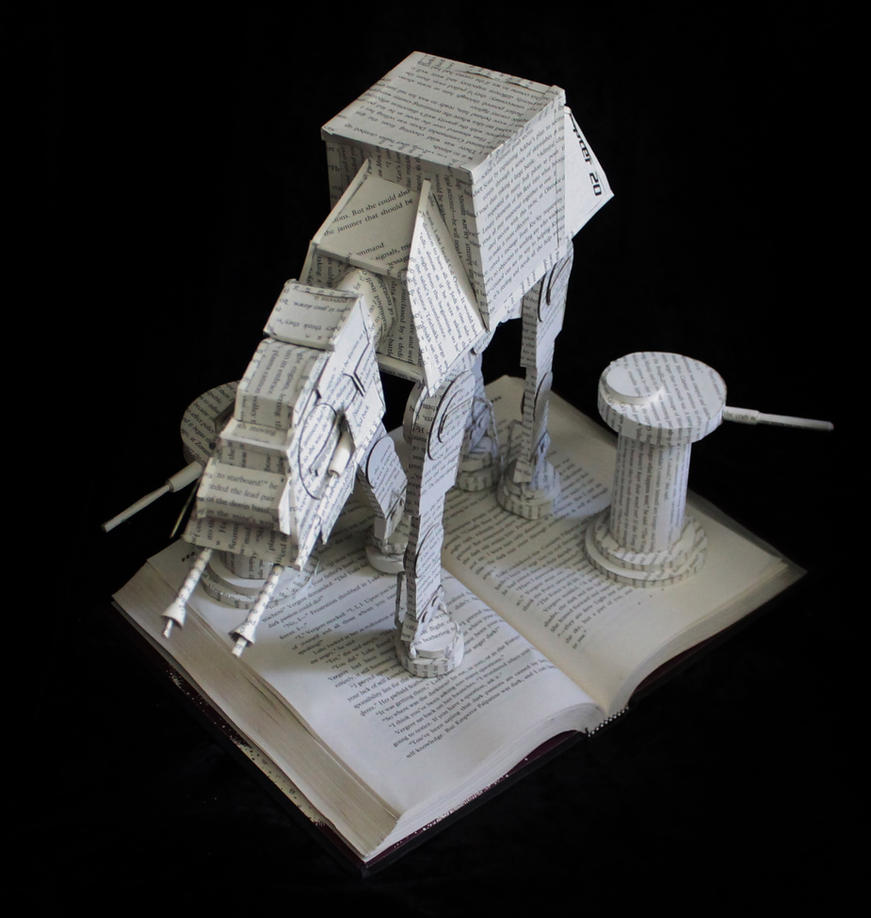 AT-AT Walker Book Sculpture by wetcanvas