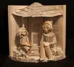 Scout and Boo Book Sculpture
