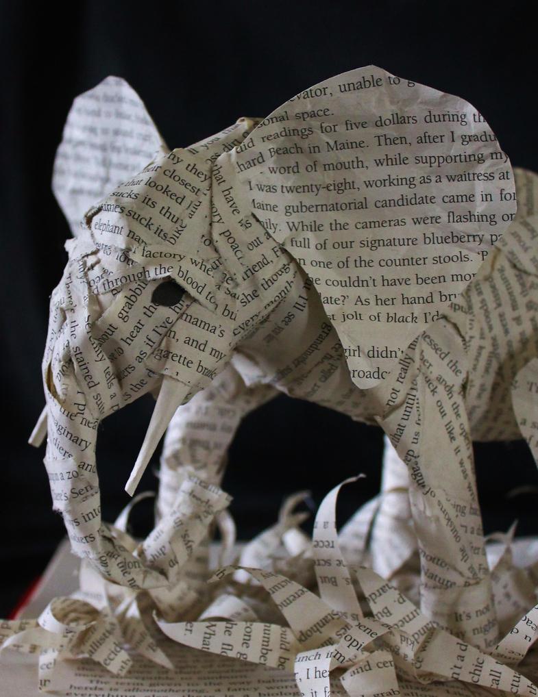 Elephant Book Sculpture Detail by wetcanvas