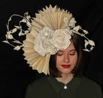 Diana Book Sculpture Headpiece