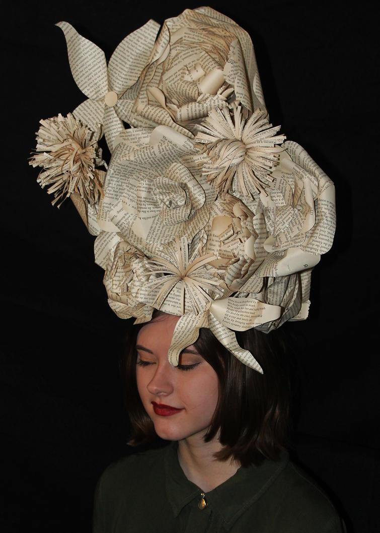 Eolande Book Sculpture Headpiece by wetcanvas
